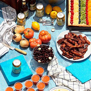 Ingredientes para la Barbacoa con churrasquitos de Ternasco de Aragón