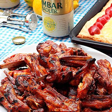Barbacoa con churrasquitos de Ternasco de Aragón