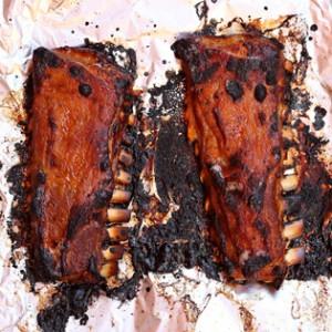 Churrasco de ternasco al horno para hacerlo a la barbacoa