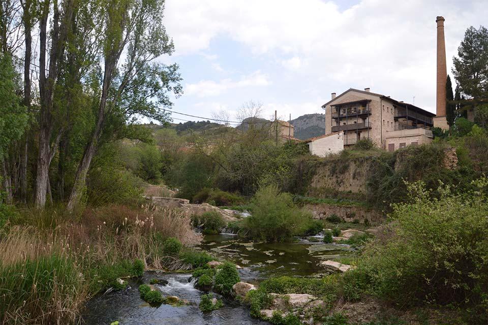 antigua fábrica en Beceite