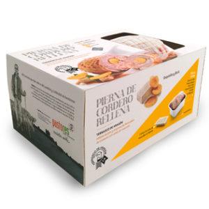 Pierna de cordero Ternasco de Aragón rellena de foie y orejones de Melocotón de Calanda con salsa de moscatel