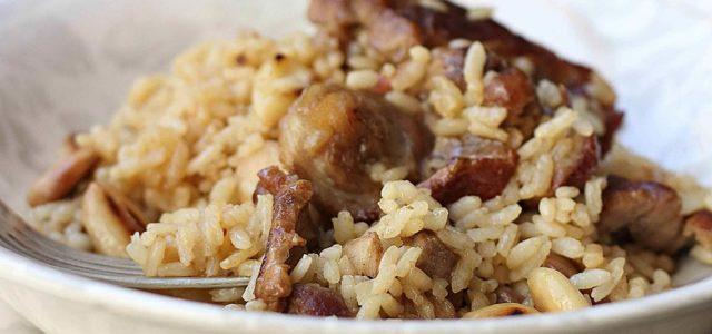 arroz con ternasco de aragon