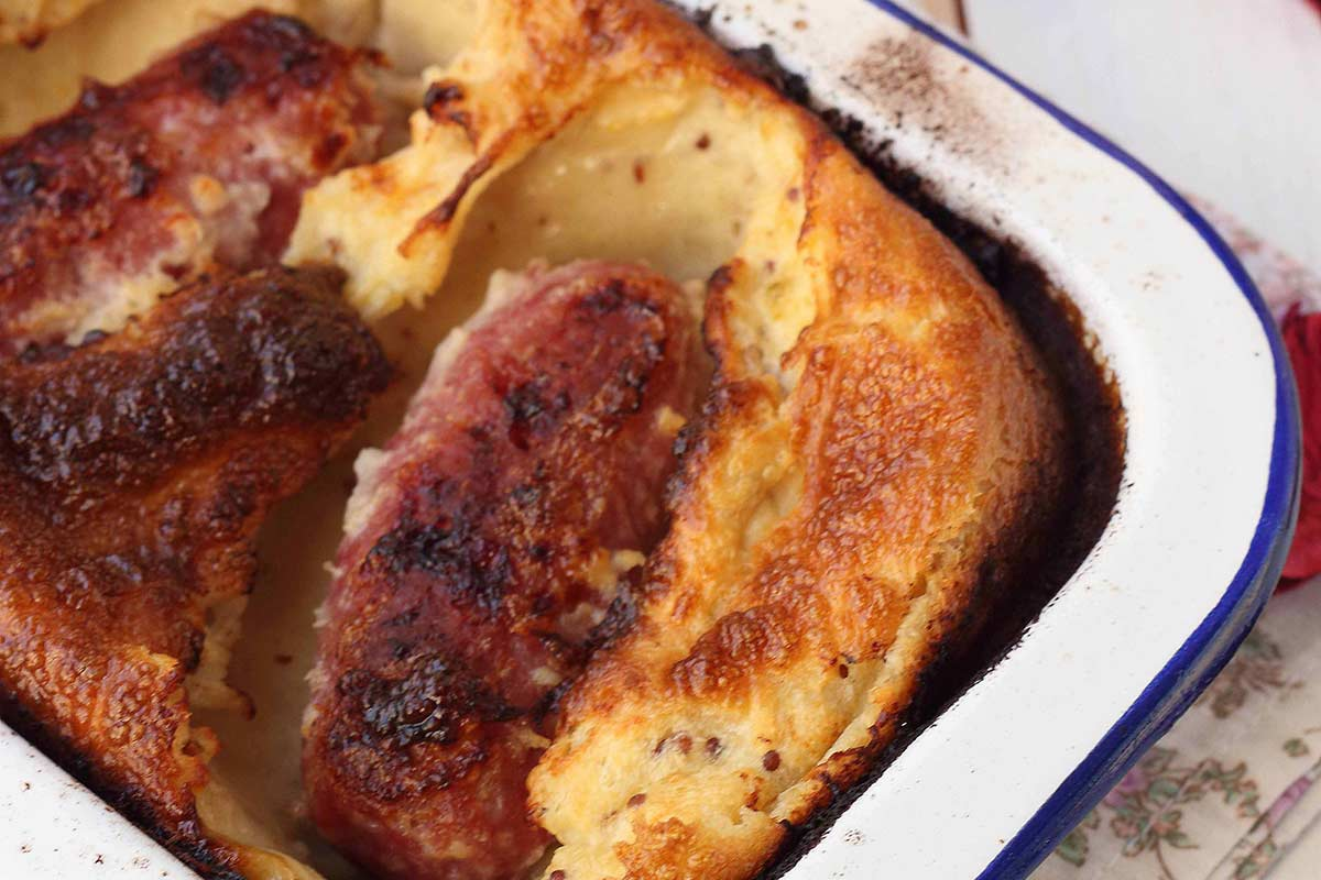 longaniza de cordero ternasco de aragon toad in the hole
