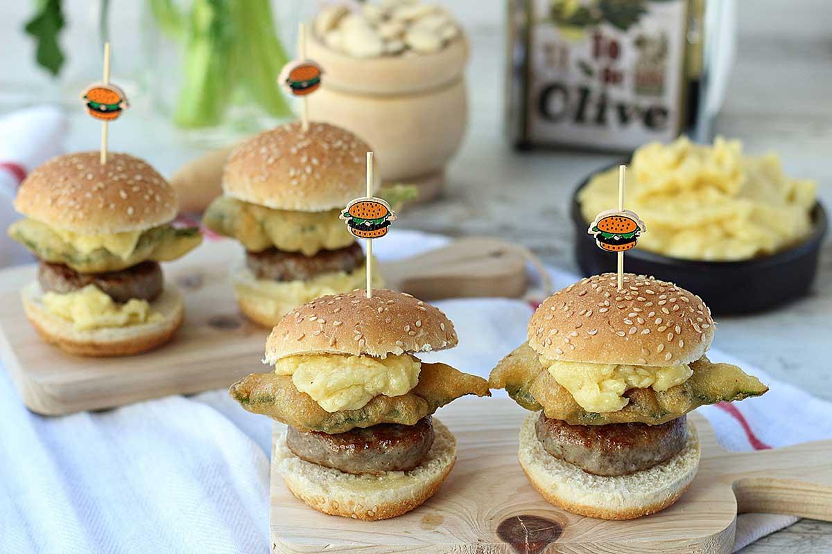 Mini hamburguesas cordero ternasco de aragon