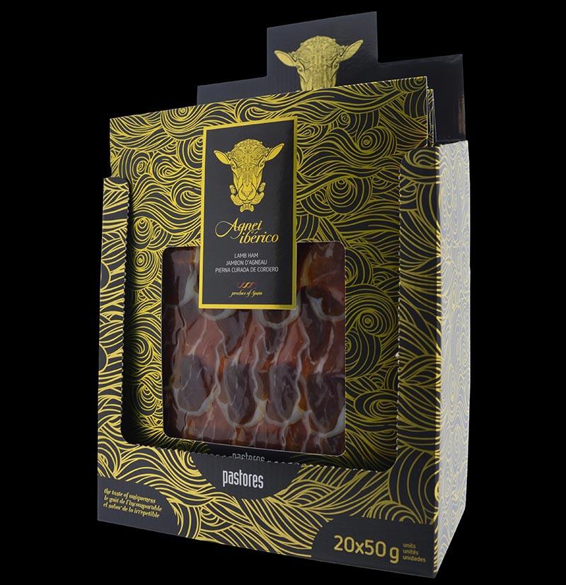 caja 20 sobres jamon de cordero